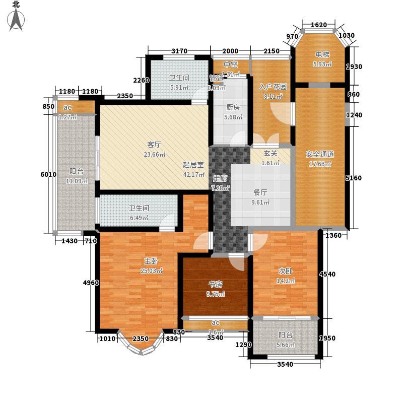 御湖佳苑157.00㎡一期小高层1#、面积15700m户型