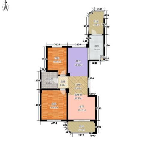 长岛府2室0厅1卫1厨117.00㎡户型图