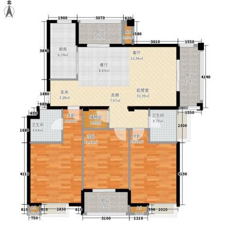 春天里3室0厅2卫1厨120.00㎡户型图