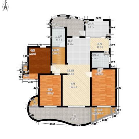 城市经典四期高迪3室0厅2卫1厨149.59㎡户型图