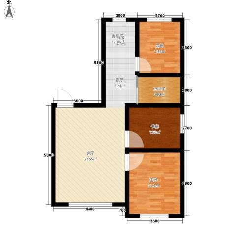 六合・龙城国际3室1厅1卫0厨94.00㎡户型图