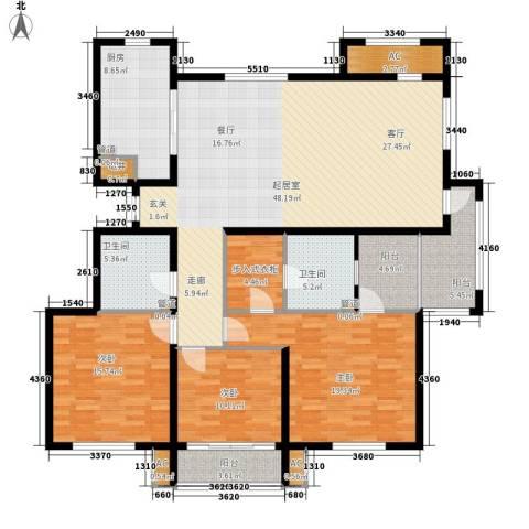 汇福山庄3室0厅2卫1厨192.00㎡户型图