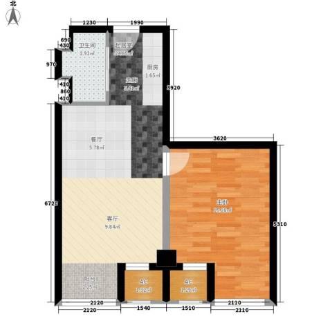 盛大花园1室0厅1卫0厨66.00㎡户型图