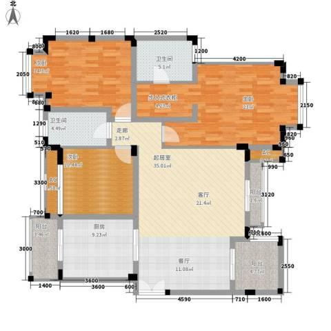 协信庭院时光3室0厅2卫1厨163.00㎡户型图