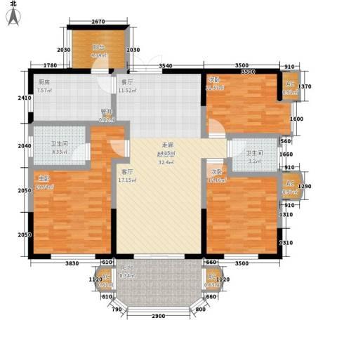 神仙树大院(高新)3室0厅2卫1厨135.00㎡户型图