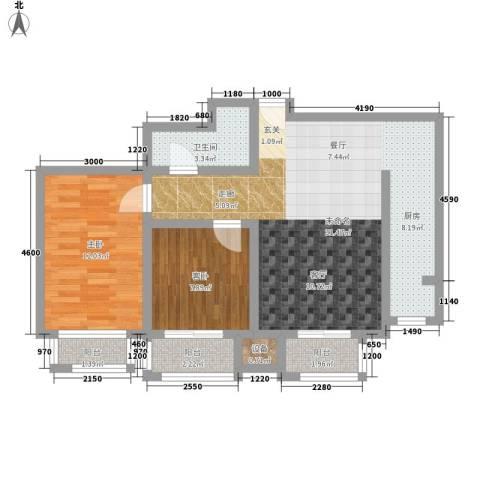 盛唐府邸2室0厅1卫0厨91.00㎡户型图