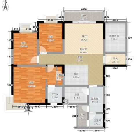 旺角佳园3室0厅2卫1厨161.00㎡户型图