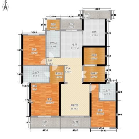 旺座城—海德堡PARK2室0厅3卫1厨161.43㎡户型图