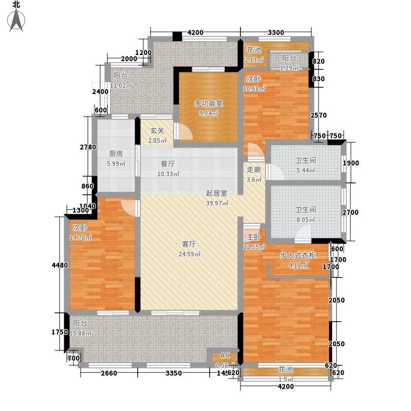 金科公园王府145.49㎡一期A1幢标面积14549m户型