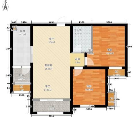 汇福山庄2室0厅1卫1厨102.00㎡户型图