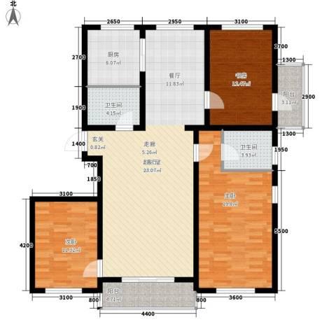 大秦华府3室0厅2卫1厨151.00㎡户型图
