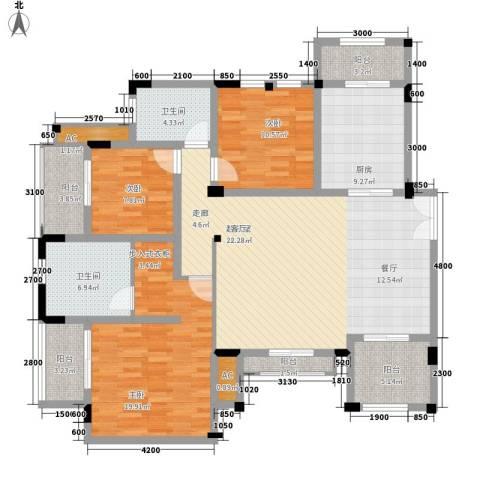 协信庭院时光3室0厅2卫1厨169.00㎡户型图