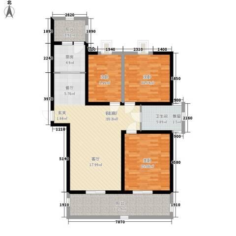 华辰丽景3室1厅1卫1厨115.00㎡户型图