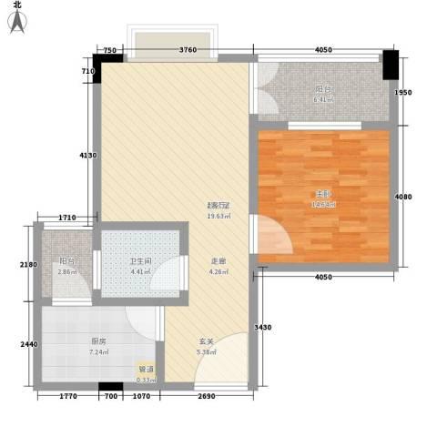 盛世名门1室0厅1卫1厨75.00㎡户型图