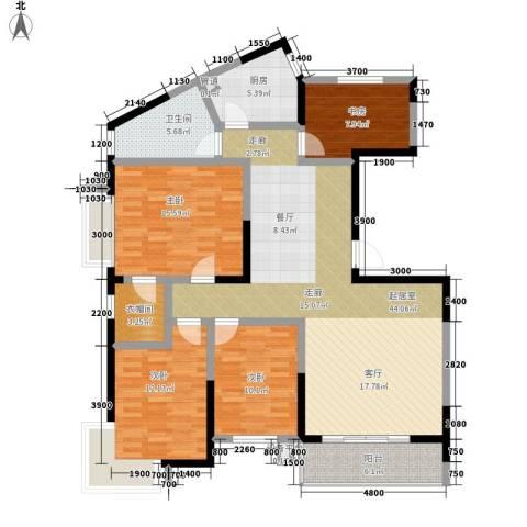 旺角佳园4室0厅1卫1厨159.00㎡户型图