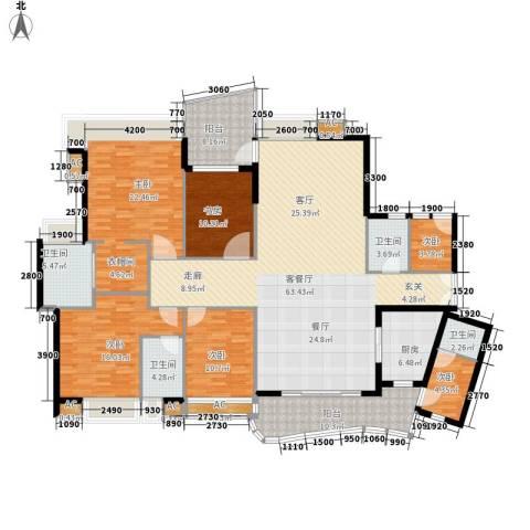广州雅居乐花园・天域6室1厅4卫1厨207.00㎡户型图