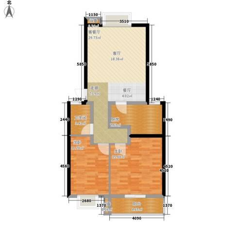 天成国际花园2室1厅1卫1厨84.00㎡户型图