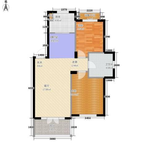 葫芦岛加州海岸2室0厅1卫1厨102.00㎡户型图