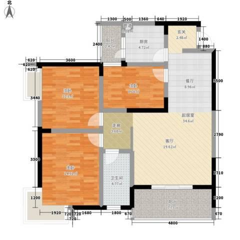 旺角佳园3室0厅1卫1厨129.00㎡户型图