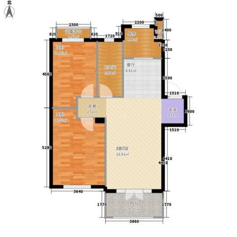 葫芦岛加州海岸2室0厅1卫1厨112.00㎡户型图