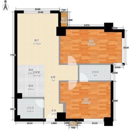 半岛四季2室0厅2卫0厨103.00㎡户型图