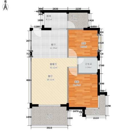 供销社宿舍(南城)2室1厅1卫1厨100.00㎡户型图