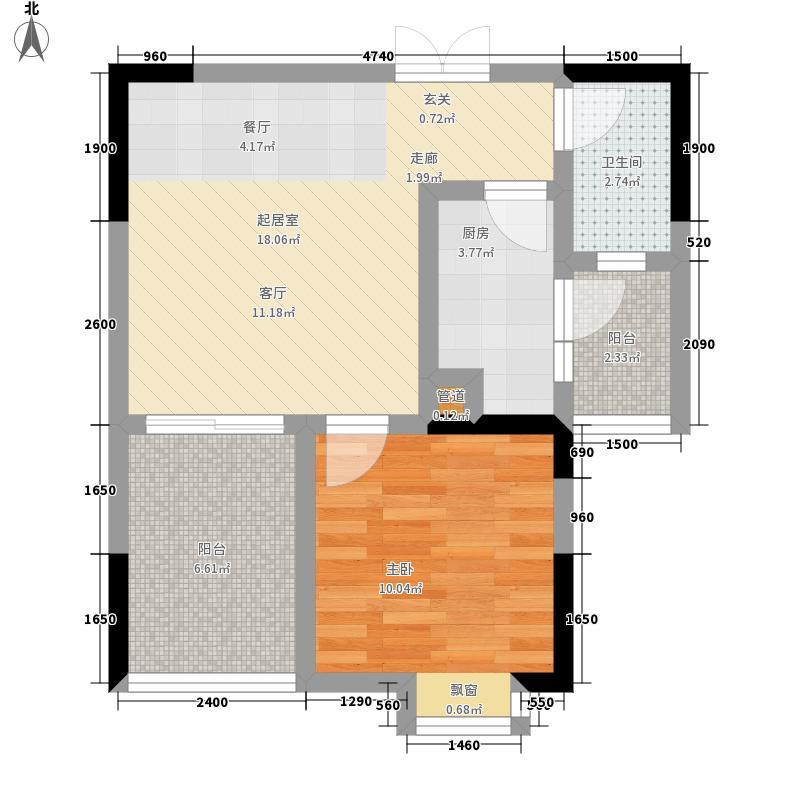 和泓南山道45.14㎡11号楼2号房面积4514m户型