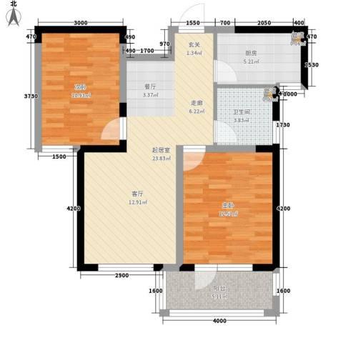 朗诗绿色街区2室0厅1卫1厨87.00㎡户型图