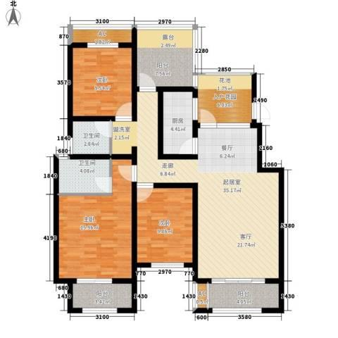 正商红河谷3室0厅2卫1厨123.00㎡户型图