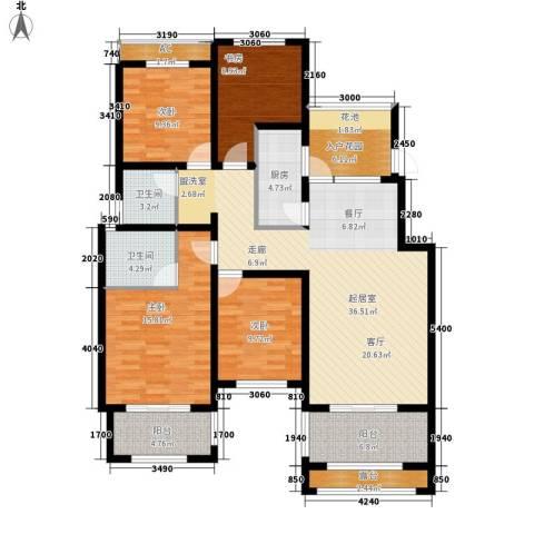 正商红河谷4室0厅2卫1厨133.00㎡户型图