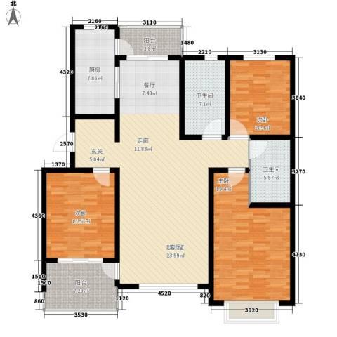巨华琦琳北辰3室0厅2卫1厨155.00㎡户型图