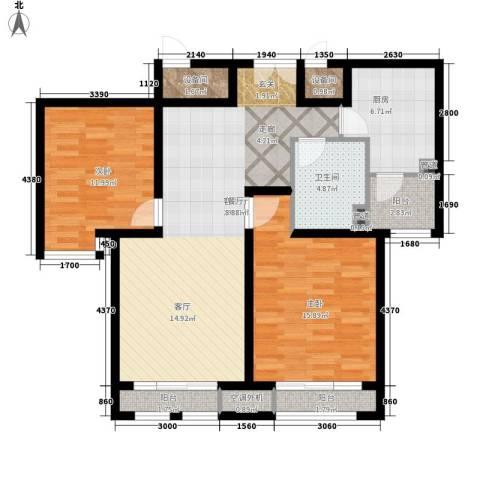 东星・卡纳溪谷2室1厅1卫1厨116.00㎡户型图