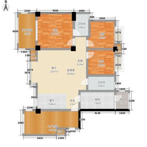 泛林格兰晴天3室0厅2卫1厨133.97㎡户型图
