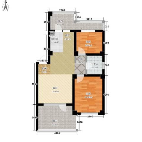 凯隆・城市广场2室1厅1卫0厨72.00㎡户型图
