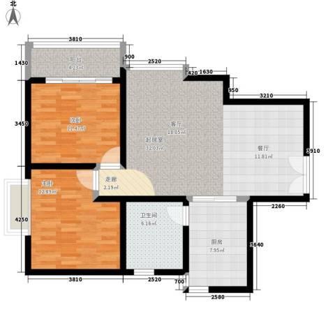 石油佳苑2室0厅1卫1厨85.00㎡户型图