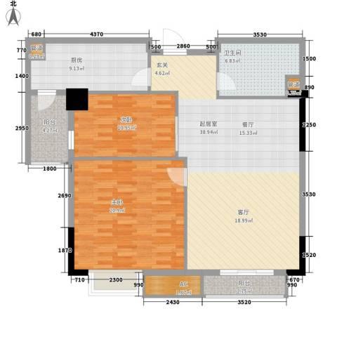 石油佳苑2室0厅1卫1厨107.00㎡户型图