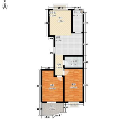 浆水泉路水利厅宿舍2室0厅1卫1厨95.00㎡户型图