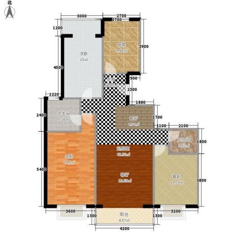 京东领秀城3室0厅2卫1厨126.00㎡户型图