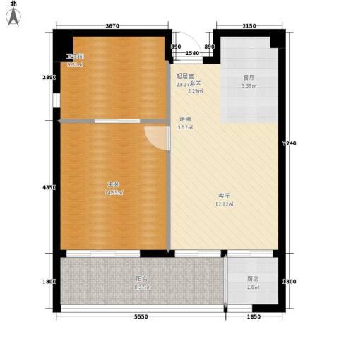 官塘万万泉1室0厅1卫1厨65.44㎡户型图