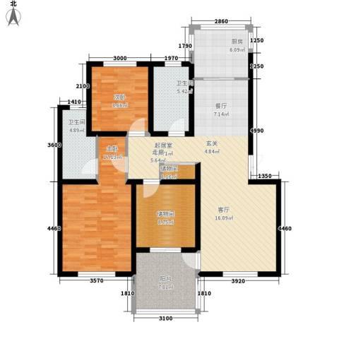 石油佳苑2室0厅2卫1厨108.00㎡户型图