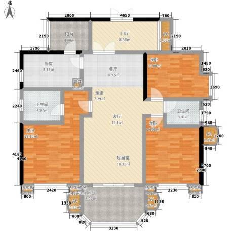 神仙树大院(高新)3室0厅2卫1厨140.00㎡户型图