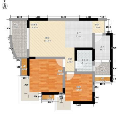石油佳苑2室0厅1卫1厨109.00㎡户型图