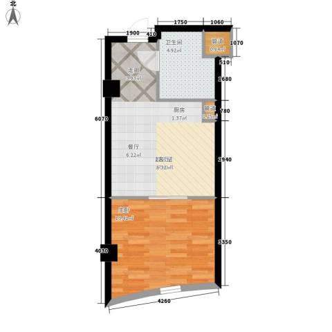发祥1号公馆1室0厅1卫0厨44.00㎡户型图