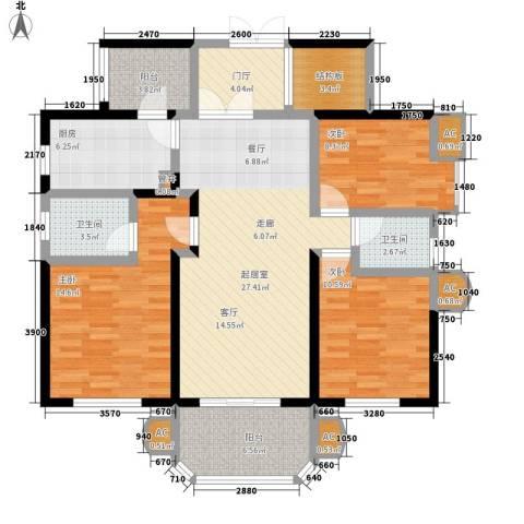 神仙树大院(高新)3室0厅2卫1厨138.00㎡户型图