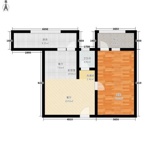 兴隆石榴园1室0厅1卫1厨69.00㎡户型图