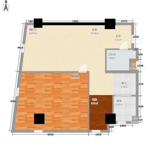 发祥1号公馆1室1厅1卫1厨99.00㎡户型图