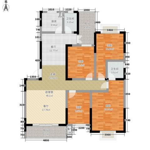 旺角佳园4室0厅2卫1厨174.00㎡户型图