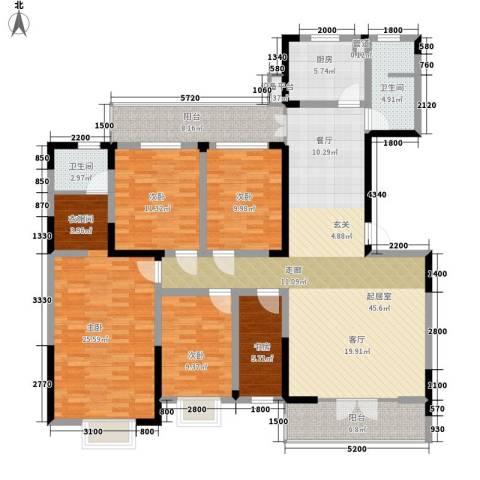 旺角佳园5室0厅2卫1厨195.00㎡户型图