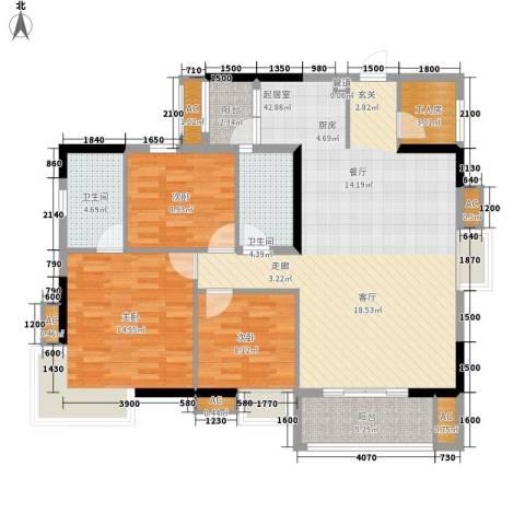 渝复丽园3室0厅2卫0厨300.00㎡户型图