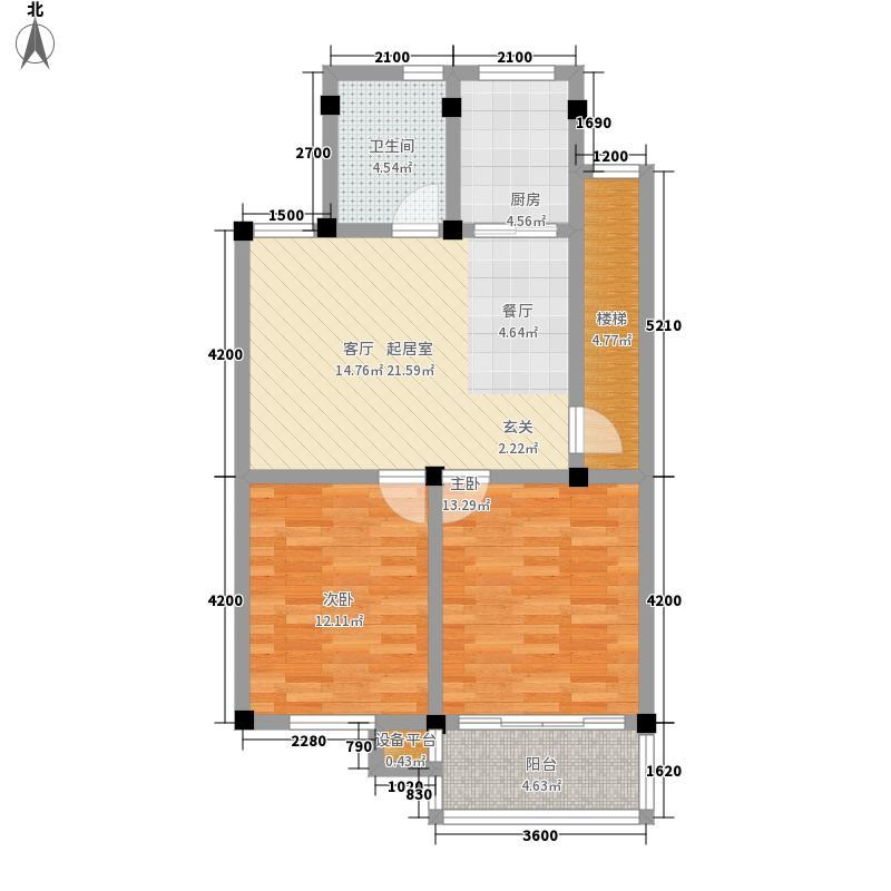 富丽家园85.00㎡普通住宅面积8500m户型